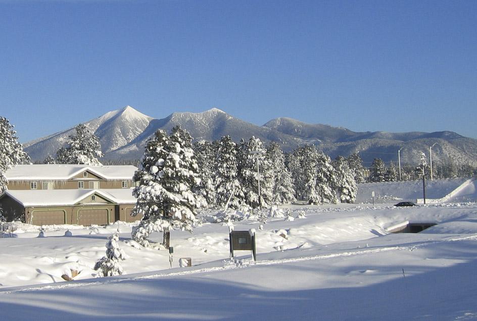 Snow scene in Flagstaff, Arizona